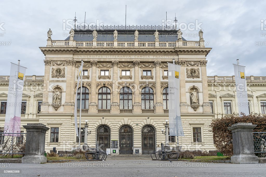 Karl-Franzens University of Graz stock photo