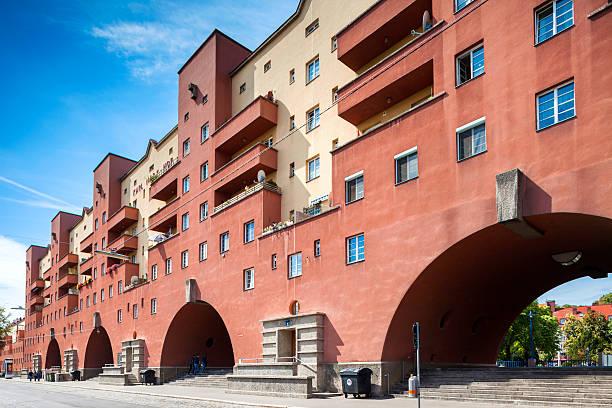 Karl-Marx-Hof Gebäude in Wien, Österreich. – Foto