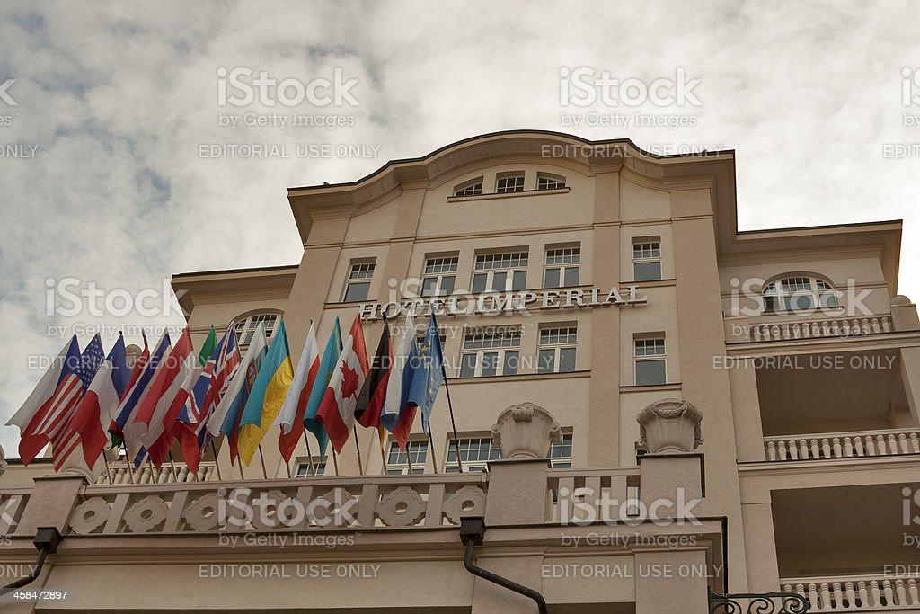 Karlovy Vary Hotel Imperial royalty-free stock photo