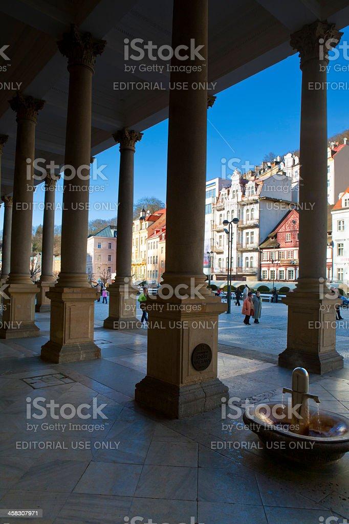 Karlovy Vary spring royalty-free stock photo