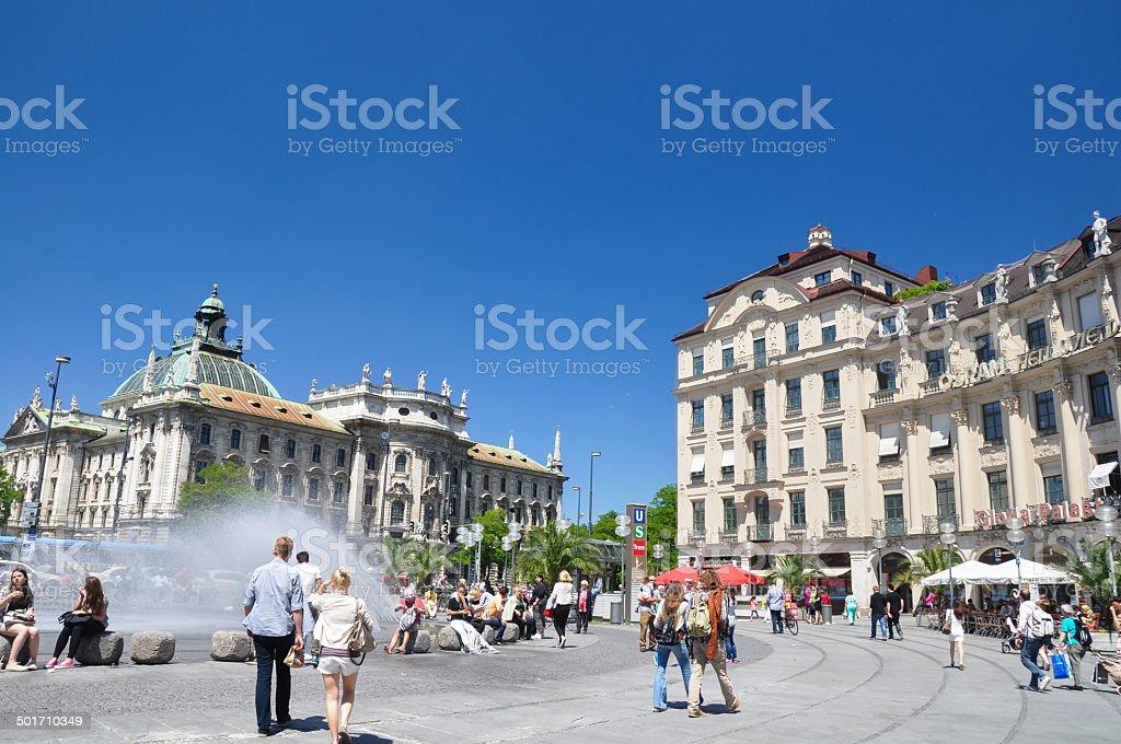 Karlsplatz (Stachus) - Munich, Germany stock photo