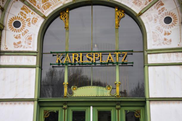 otto wagner pavillon karlsplatz (karlsplatz) - otto der große stock-fotos und bilder