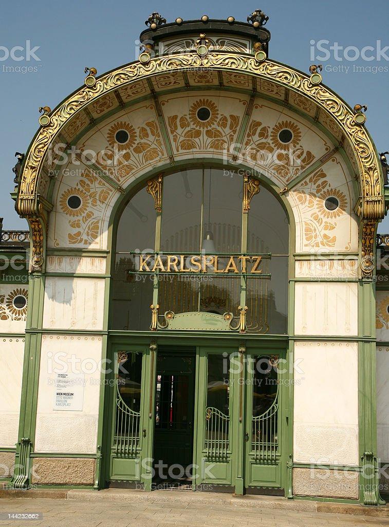 Karlsplatz Subway Station, Vienna, Austria royalty-free stock photo