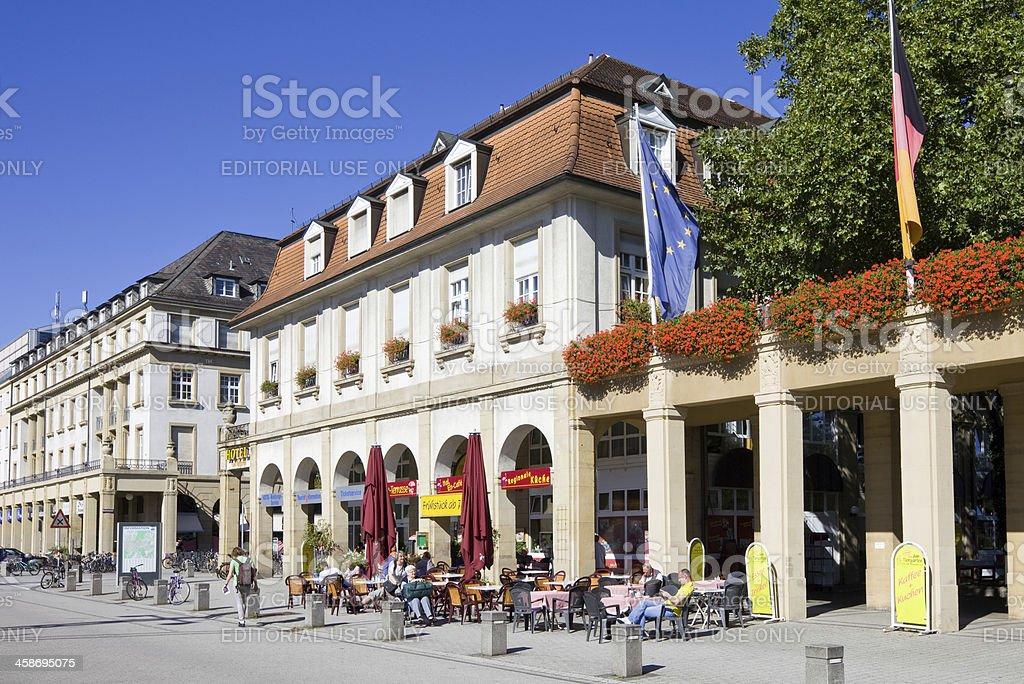 karlsruhe deutschland outdoor cafe hotel am tiergarten stock fotografie und mehr bilder von. Black Bedroom Furniture Sets. Home Design Ideas