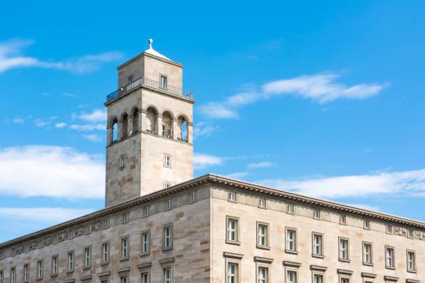 Karlsruhe die Volkswohnung Gebäude Wohnung Wohn-Baugesellschaft äußere Anblick Zielspeicherort – Foto