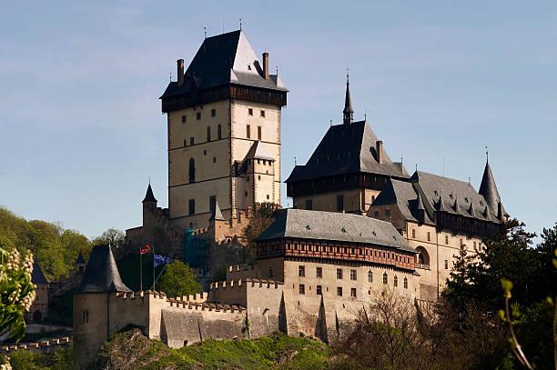 Karlstej - fanous Gothic castle stock photo
