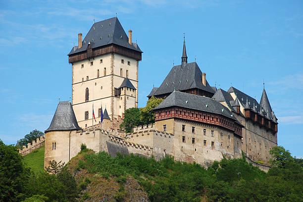 Karlstejn Castle in the Czech Republic stock photo
