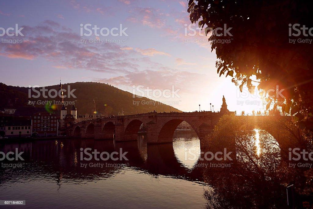 Karl-Theodor Brücke in Heidelberg stock photo