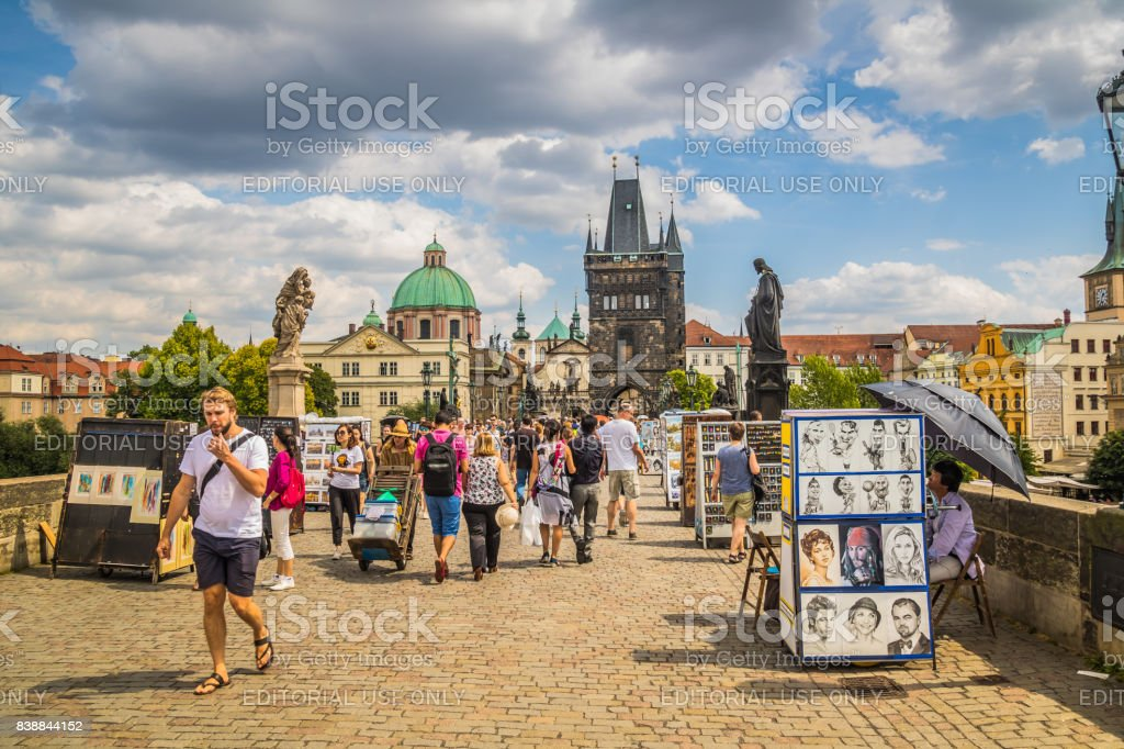Karluv most, Praha stock photo