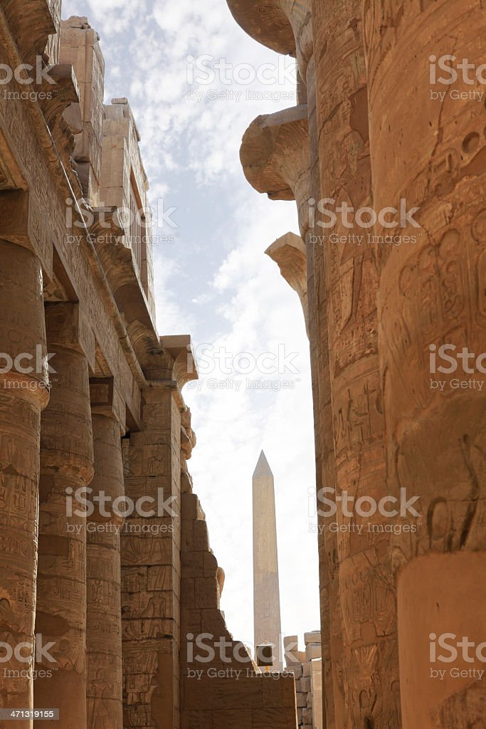 Karnak Temple - Amun Hypostyle Hall stock photo