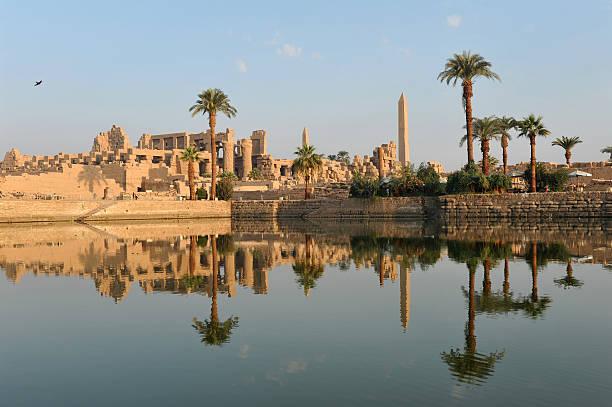 Karnak temple at dawn stock photo