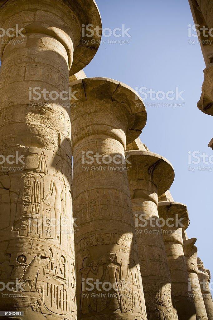 Karnak Temple Columns royalty-free stock photo