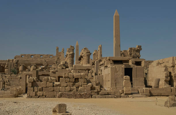 Karnak Temple Complex in Luxor, Egypt in Northern Africa stock photo