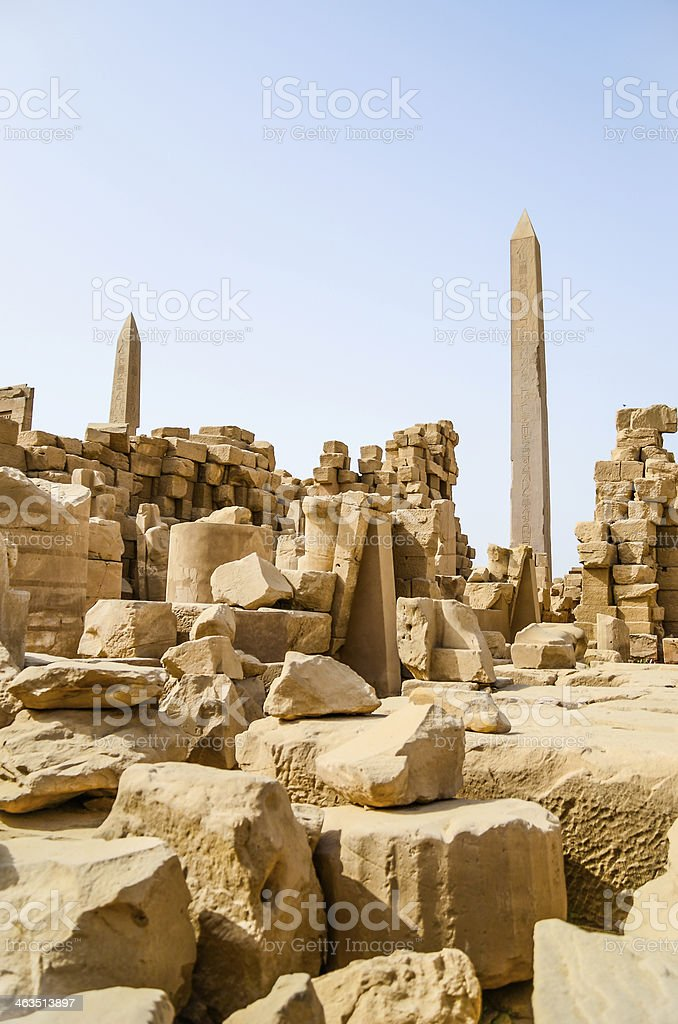Karnak Temple Complex in Luxor royalty-free stock photo