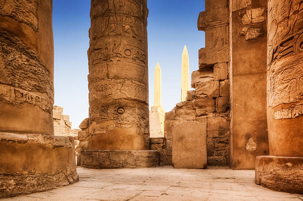 Karnak Temple Complex  valley of the kings stock pictures, royalty-free photos & images