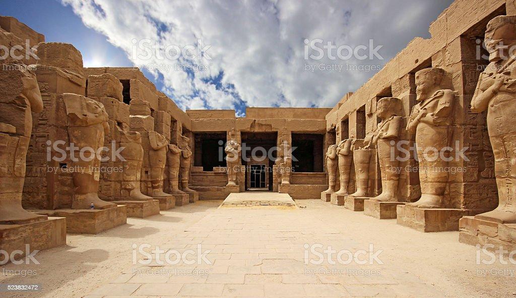 Karnak Temple (Thebes) in Luxor. Egypt stock photo
