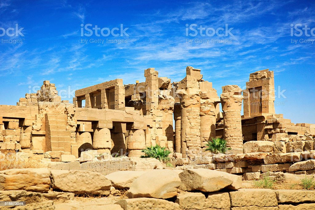 Karnak Temple - Luxor, Egypt stock photo