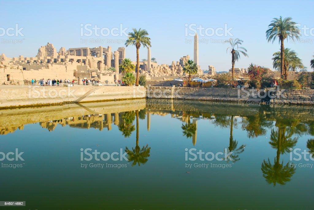 Karnak Temple - Luxor - Egypt stock photo