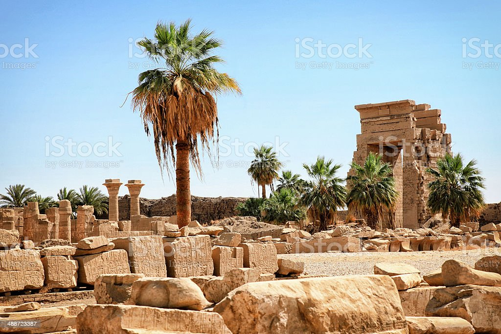 Karnak Temple - Temple of Ramesses II stock photo
