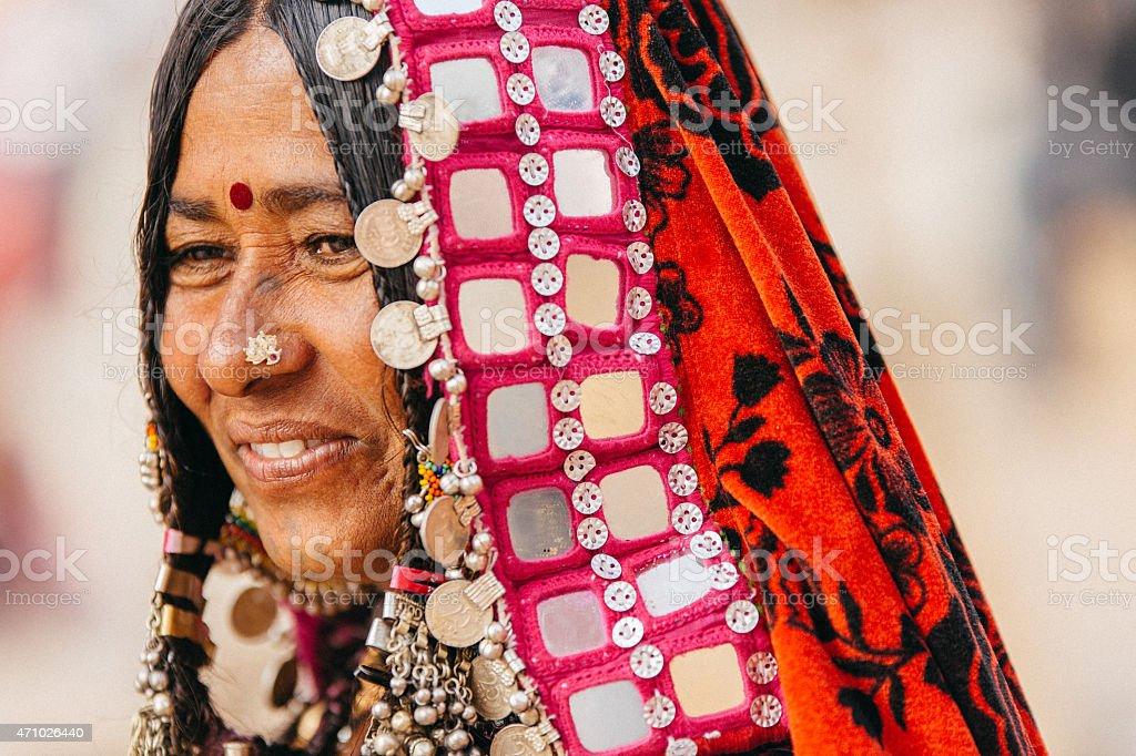 Karnataka Woman stock photo