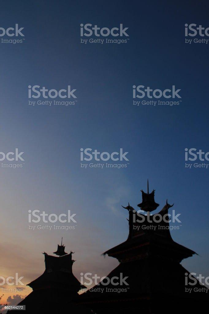 Karo traditional houses in the village kandibata stock photo