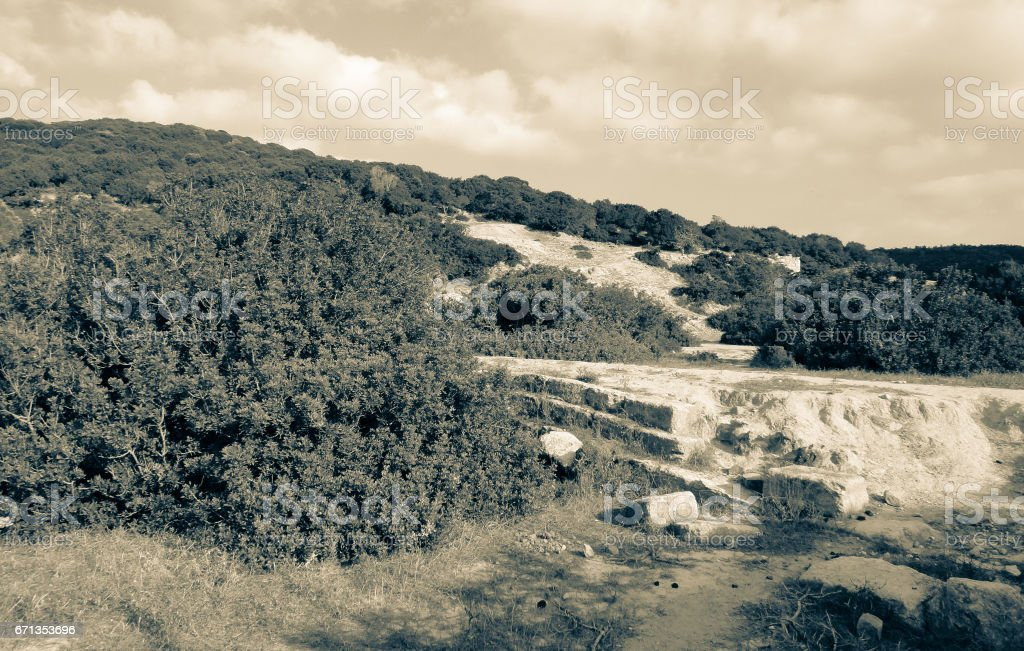 Karpasia Ancient City ruins. Cyprus island stock photo