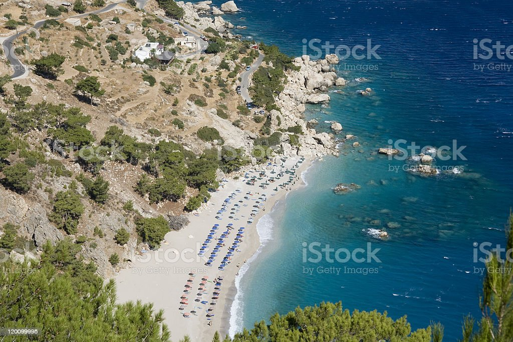 Karpathos - Apella beach in september royalty-free stock photo