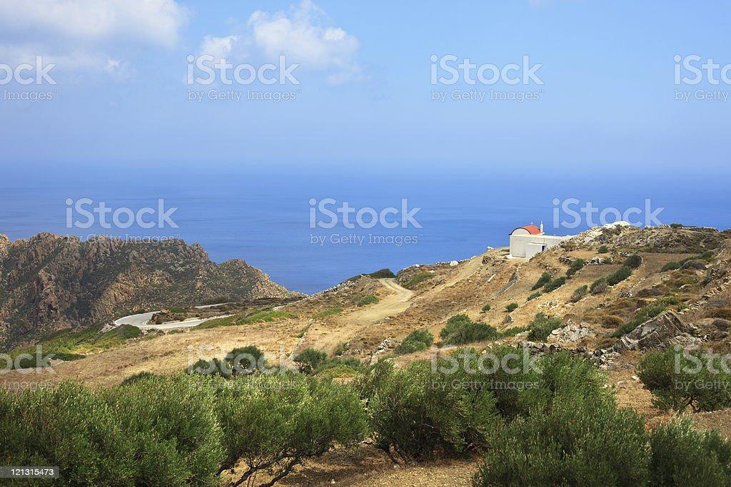 Karpathos Landscape royalty-free stock photo