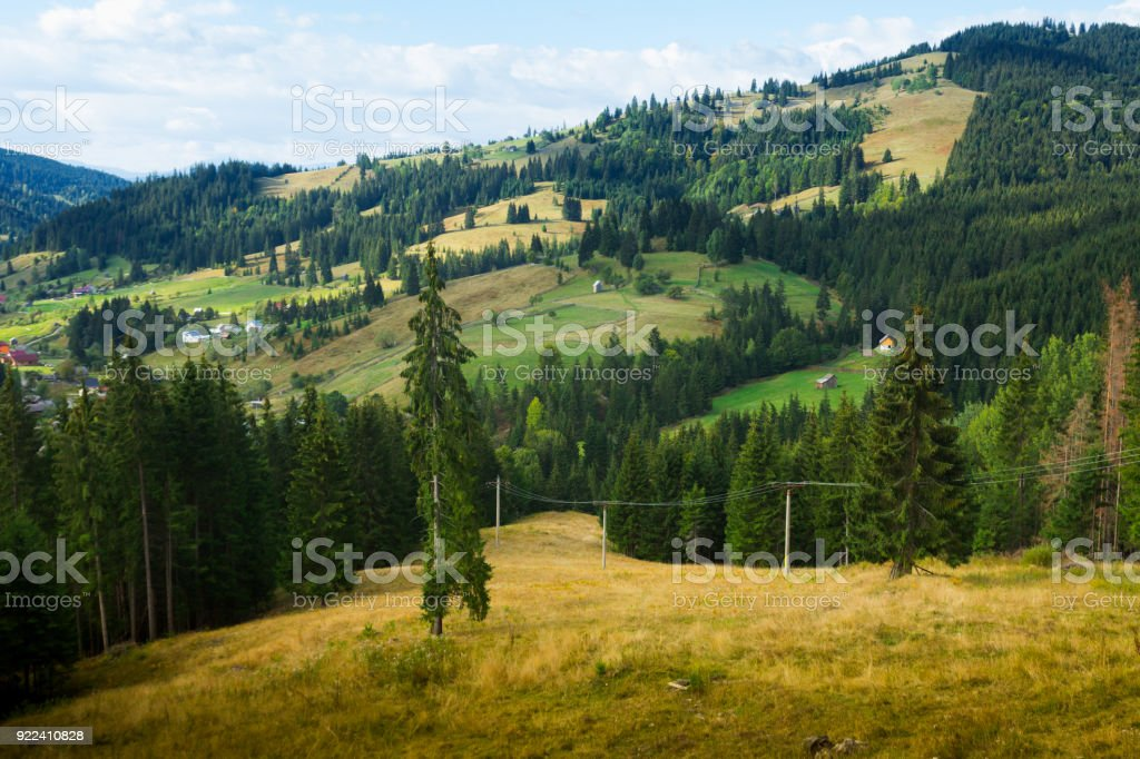Karpaty is picturesque place stock photo