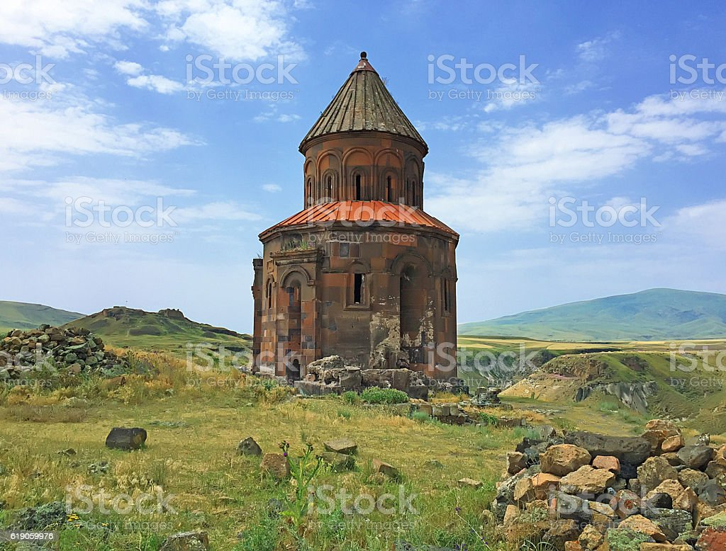 Kars Ani Ruin stock photo