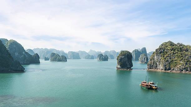 카르스트 도서지역 환경은 하롱 베이에서의, 베트남 - 카르스트 지형 뉴스 사진 이미지