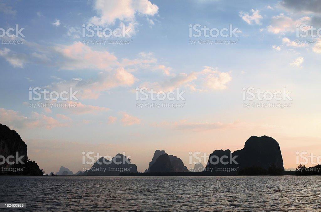 Karst Islands In Ao Phang Nga royalty-free stock photo