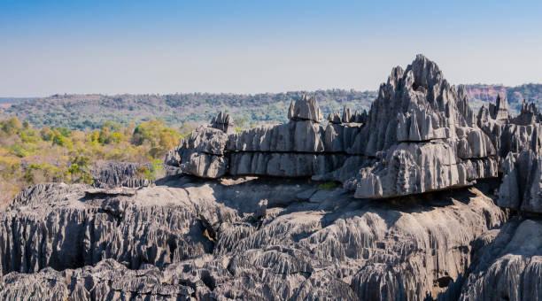 마다가스카르 베마라하 국립공원의 칭기의 카르스트 석회암 지대 - 카르스트 지형 뉴스 사진 이미지