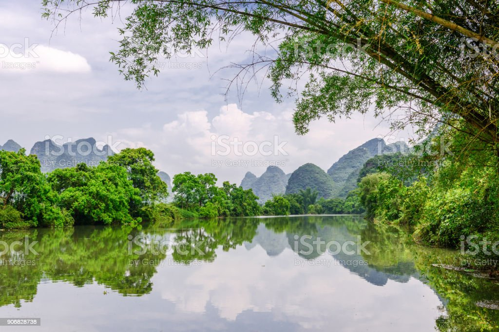 Karst Mountains in Guilin,China stock photo