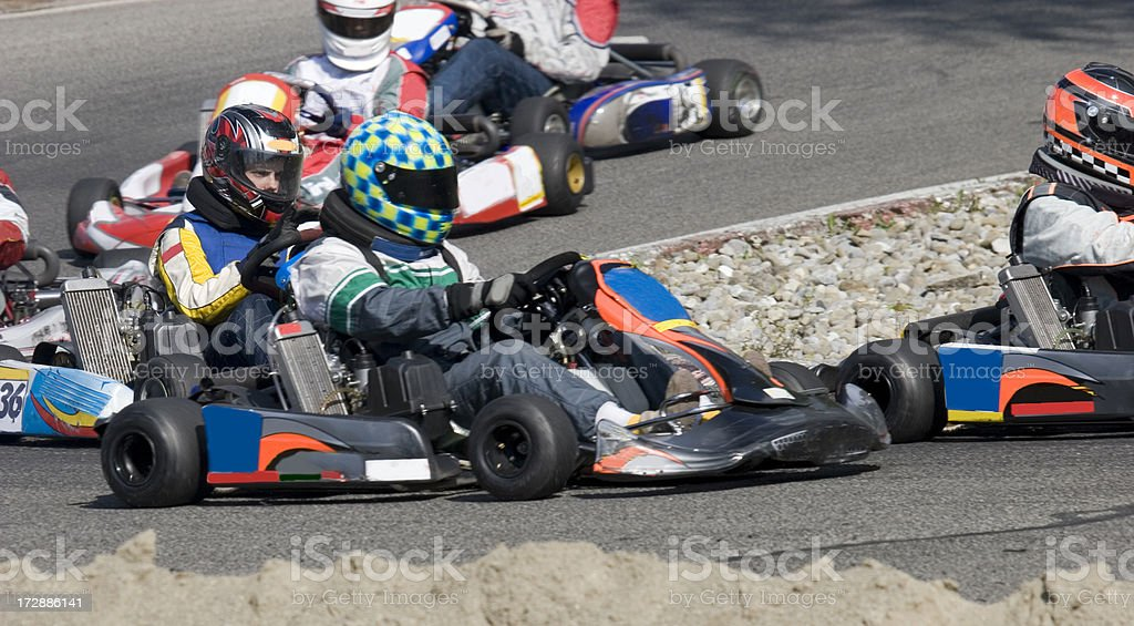 Kart race royalty-free stock photo