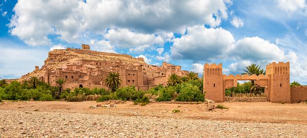 Kasbah Ait Ben Haddou, a Berber fortress village near Ouarzazate in the Atlas Mountains of Morocco