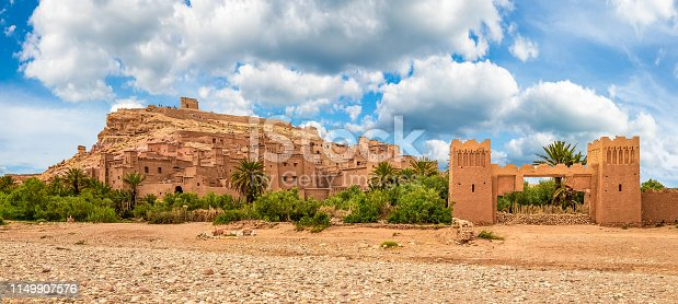 Kasbah Ait Ben Haddou, a Berber fortress village near Ouarzazate in the Atlas Mountains of Morocco