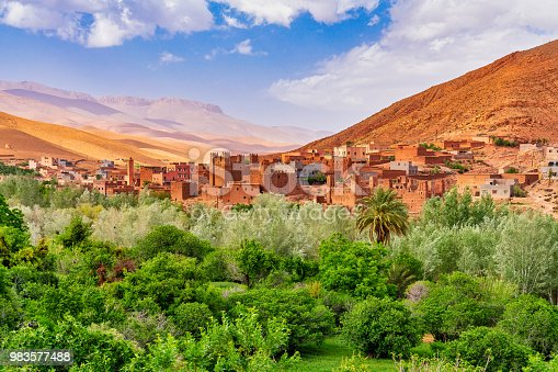 istock Kasbah and village in Morocco North Africa 983577488