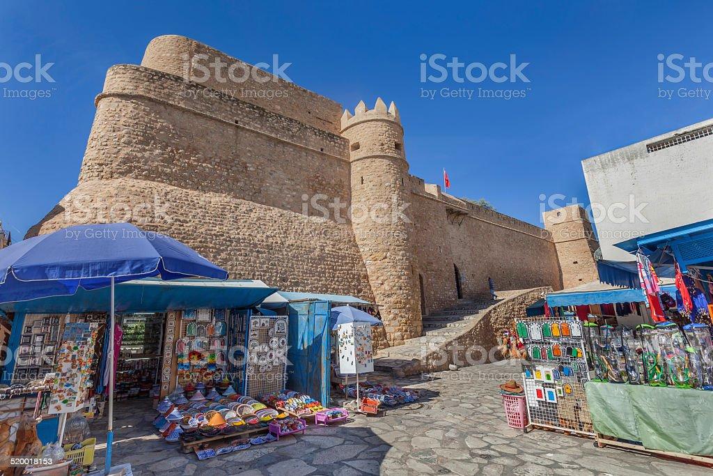 Kasbah in medina of Hammamet, Tunisia stock photo