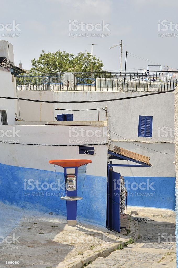 Kasbah des Oudayas Public Telephone stock photo