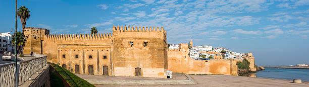 kasbah of the udayas and bou regreg river. rabat, morocco... rabat, morocco. - kasbah bildbanksfoton och bilder