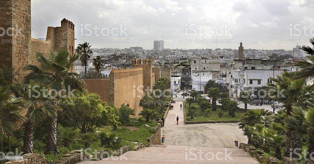 Kasbah of the Udayas in Rabat. Morocco stock photo