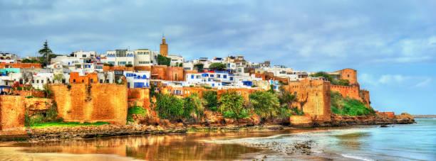 kasbah av udayas i rabat, marocko - rabat marocko bildbanksfoton och bilder
