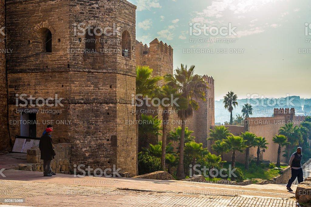 Kasbah of the Udayas. Rabat, Morocco. stock photo