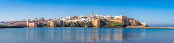 Kasbah of Udayas fortress in Rabat Morocco. Kasbah Udayas is ancient attraction of Rabat Morocco stock photo