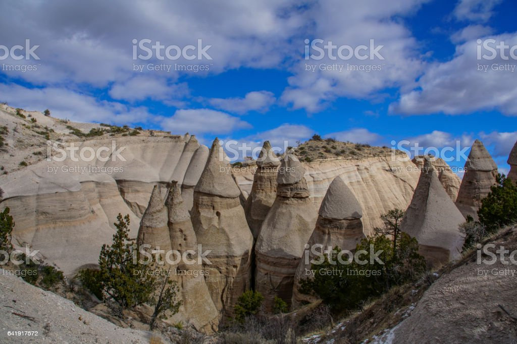 Kasha-Katuwe Tent Rocks National Monument in New Mexico stock photo
