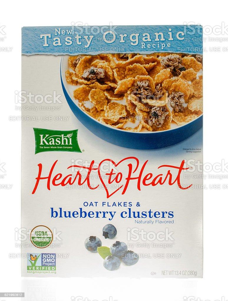 Kashi Heart to Heart Oat Flakes stock photo