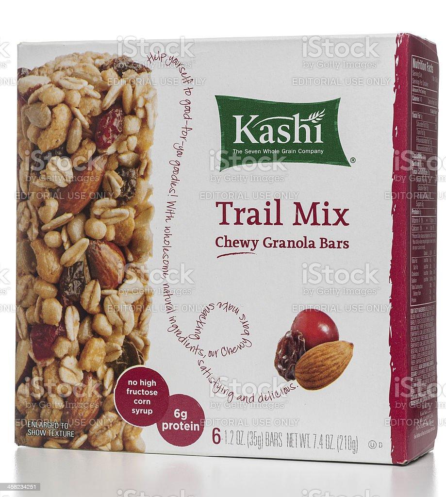 Kashi trail mix chewy granola bars box royalty-free stock photo