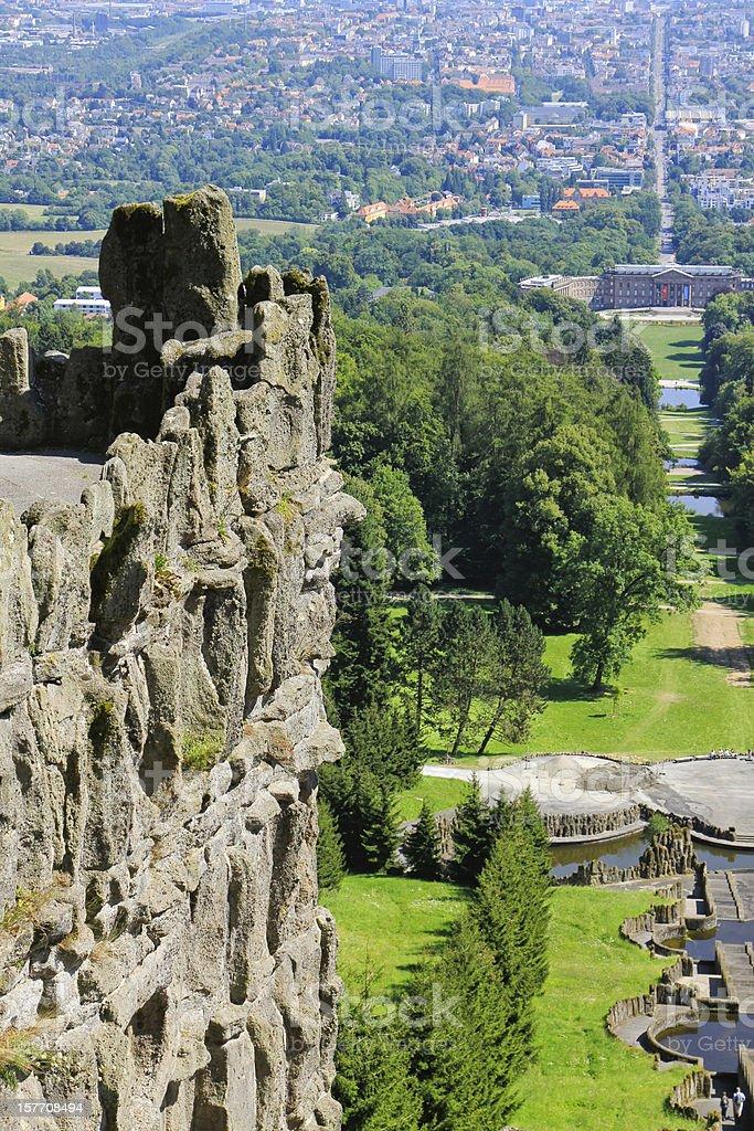Kassel Wilhelmshöhe und Stadt royalty-free stock photo