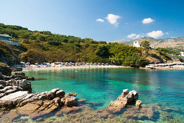Kassiopi Strand, Insel Korfu, Griechenland. – Foto